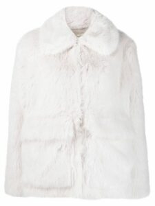 Zadig & Voltaire Fashion Show Mays faux-fur coat - White