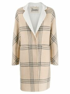 Herno checked coat - Neutrals