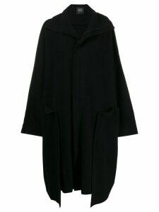 Yohji Yamamoto wide seam oversized coat - Black