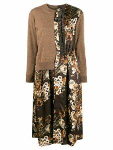 Junya Watanabe contrast style coat - Brown