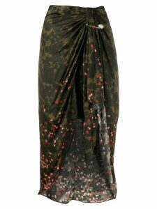 Mother Of Pearl draped midi skirt - Green