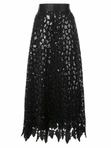 Marc Jacobs layered sequin-lace skirt - Black