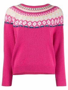 Lamberto Losani patterned jumper - Pink