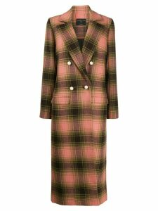 Mother Of Pearl check double-breasted coat - Green