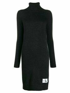 Calvin Klein Jeans roll-neck sweater dress - Grey