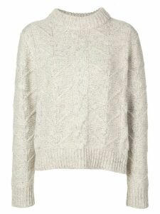 Beau Souci cable-knit jumper - Grey