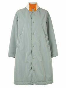 Undercover mixed fabric coat - Green