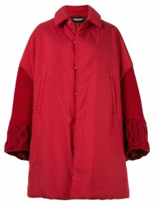 Undercover oversized fabric mix coat - Red