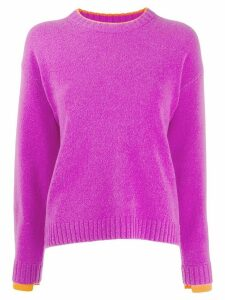 Victoria Victoria Beckham contrast trim jumper - Purple