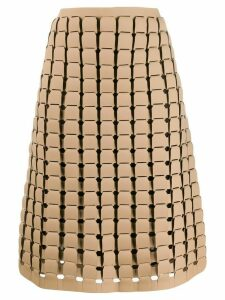Bottega Veneta chainmail effect A-line skirt - NEUTRALS