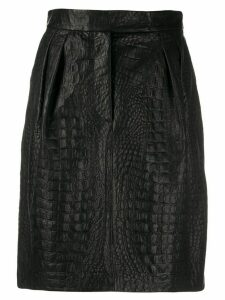 Max Mara embossed A-line skirt - Black