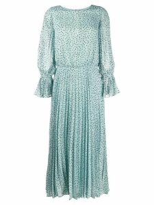 Emporio Armani polka dot print dress - Blue