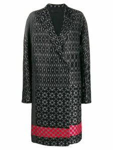 Haider Ackermann jacquard coat - Black