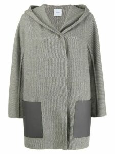 Agnona contrast pocket coat - Grey