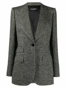 Dolce & Gabbana woven fitted blazer - Black