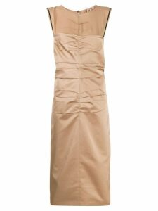 Nº21 ruched fitted sleeveless dress - Neutrals