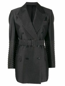 Prada embellished longline blazer - Grey