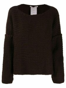 Cherevichkiotvichki chunky knit jumper - Brown