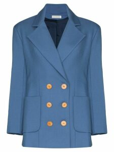 Vika Gazinskaya double-breasted blazer - Blue