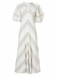 Lee Mathews Tilda puff sleeve dress - White