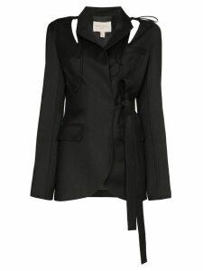 Matériel cut-out detail side tie blazer - Black
