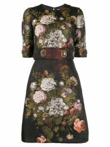 Dolce & Gabbana floral embellished short dress - Black