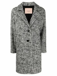 Twin-Set woven single breasted coat - Black