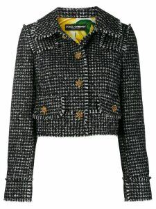 Dolce & Gabbana Spencer houndstooth blazer - Black