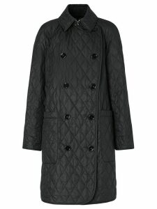 Burberry double-breasted quilted coat - Black