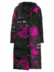 Diesel oversized padded midi coat - Black