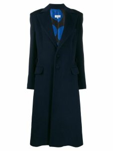 Palomo Spain single-breasted midi coat - Blue