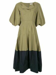 Lee Mathews Elsie lantern dress - Green
