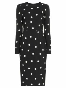 Dolce & Gabbana Cady polka-dot midi dress - Black