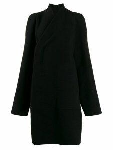 Rick Owens wrap style front coat - Black