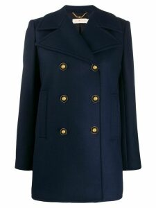 Tory Burch double-breasted peacoat - Blue