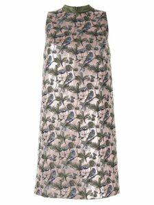Shanghai Tang floral jacquard dress - PINK