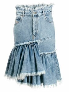 Diesel frayed edge denim skirt - Blue