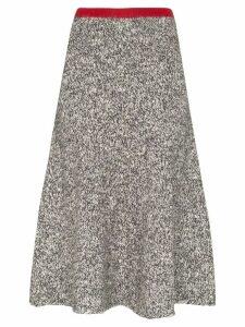 Vika Gazinskaya contrast waist melange wool skirt - Grey