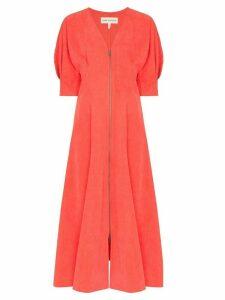 Mara Hoffman Sophie puff-sleeve dress - Red