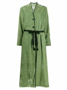 Forte Forte long velvet duster coat - Green