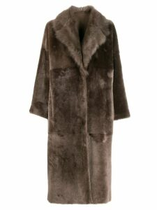 Liska Padova reversible coat - Brown