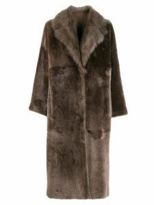 Liska Padova reversible coat - Brown