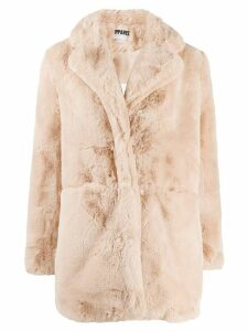 Apparis shearling buttoned coat - PINK