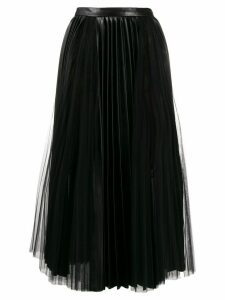 Ermanno Scervino high waisted pleated skirt - Black