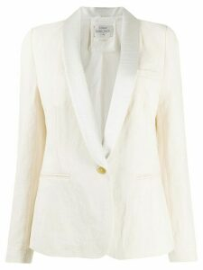 Forte Forte contrasting lapel single-breasted blazer - White