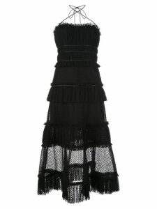 Alexis Angelia halterneck dress - Black
