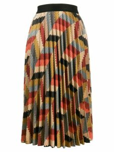 M Missoni geometric print pleated skirt - NEUTRALS