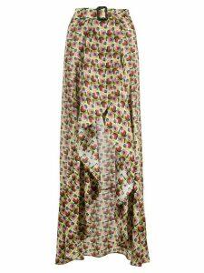 Alexis Baxter-Cape geometric-print skirt - Green