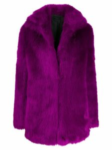 RtA faux-fur coat - Purple