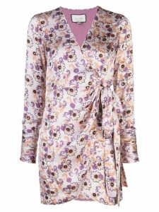 Alexis Kari floral-print wrap dress - PURPLE